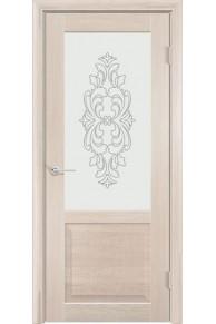 Межкомнатная дверь остекленная Венеция 1 капучино