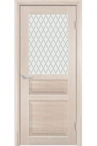 Межкомнатная дверь остекленная Венеция 2 капучино