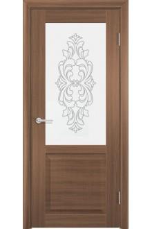 Межкомнатная дверь остекленная Венеция 1 орех велла