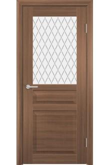Межкомнатная дверь остекленная Венеция 2 орех велла