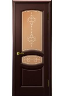 Межкомнатная дверь остекленная Анастасия венге
