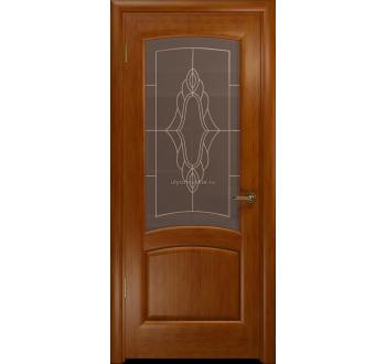 Межкомнатная дверь остекленная Лаура венге