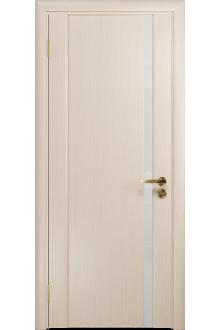 Межкомнатная дверь остекленная Модерн-1 ПО беленый дуб