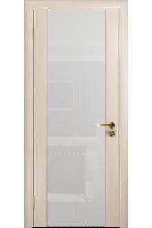Межкомнатная дверь остекленная Модерн-3 беленый дуб
