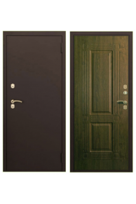Металлическая дверь с Терморазрывом Аргус Тепло-2 медный антик/дуб тёмный