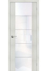 Межкомнатная дверь с Эко шпоном V4 bianco veralinga white waltz