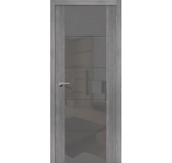 Межкомнатная дверь с Эко шпоном V4 Grey Veralinga