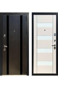 Входная металлическая дверь Зетта ПРЕМЬЕР 100 КБ1 белое стекло ЛАКАБЕЛЬ