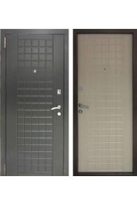 Входная металлическа дверь  Бюджет Шоколад Беленый Дуб.