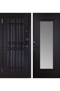 Входная металлическая  дверь Кватро зеркало венге.