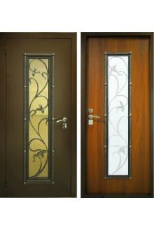 Входная металлическая дверь уличная дверь Лоза со стеклопакетом.