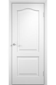 Межкомнатная дверь   Классика белая глухая