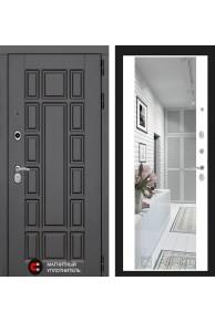 Входная дверь Лабиринт New York с широким зеркалом - Белый soft