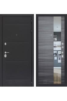 Входная дверь Лабиринт Лофт с Зеркалом - Сандал серый горизонтальный