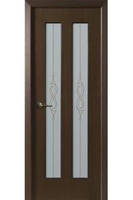 Межкомнатная дверь Медея (КРОНА) венге стекло
