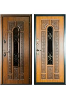 Входная уличная дверь Русь Премиум для загородного дома