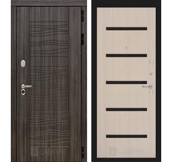 Входная металлическая дверь Лабиринт SCANDI Дарк грей - 01 Беленый дуб