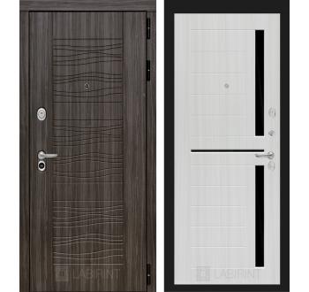 Входная металлическая дверь Лабиринт SCANDI Дарк грей 02 - Сандал белый