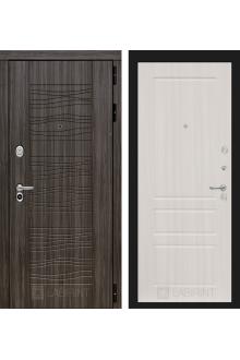 Входная дверь Лабиринт SCANDI 03 - Сандал белый, Орех премиум, Орех бренди
