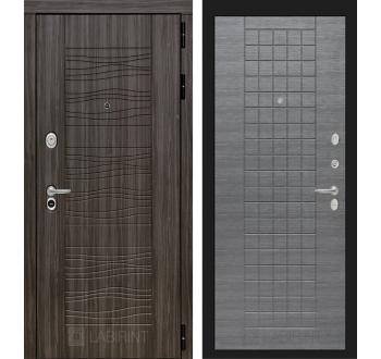 Входная металлическая дверь Лабиринт SCANDI 09 - Лен сильвер грей