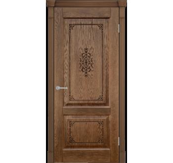 Межкомнатная дверь Шервуд 3D миндаль Глухая