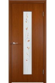 Межкомнатная дверь С-21 шпон макоре Амелия