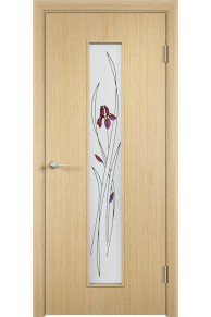 Межкомнатная дверь С-21 шпон белённый дуб.