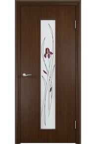 Межкомнатная дверь С-21 шпон венге.