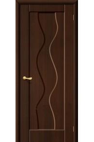 Межкомнатная дверь Вираж ПВХ ламинированна венге.