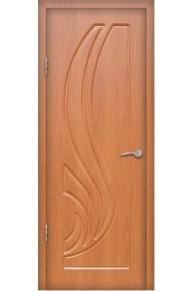 Межкомнатная дверь Лотос  ПВХ ламинированная миланский орех глухая.