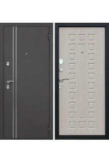 Уличная входная металлическая дверь с терморазрывом (Дуб беленый)