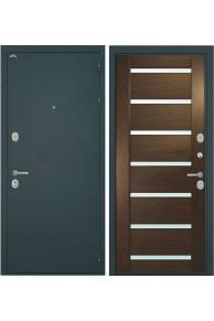 Входная металлическая дверь Интекрон Греция 1 шпон Дуб бургундский.