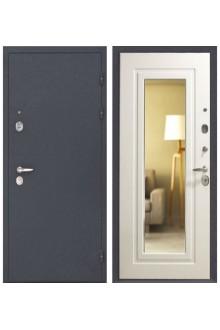 Входная стальная дверь Интекрон Эллада с зеркалом (Белый ясень)
