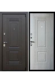Входная металлическая дверь Викинг белёный дуб.