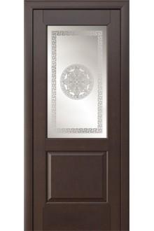 Межкомнатная дверь Троя венге стекло.