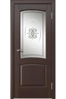 Межкомнатная дверь Леда венге  стекло классика