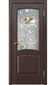 Межкомнатная дверь Леда венге  стекло